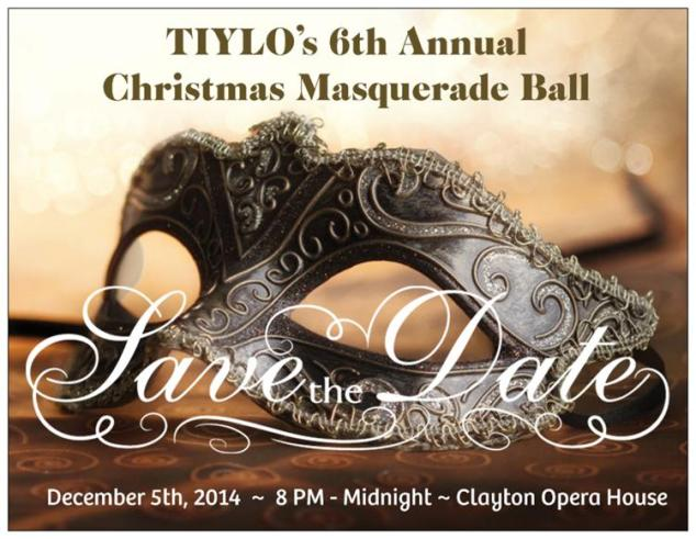 Planning is underway for our 6th Annual Christmas Masquerade Ball!  This year's ball will be held at the Clayton Opera House on Friday, December 5th, 2014.  We look forward to seeing you, and friendly new faces, from 8 PM to Midnight!